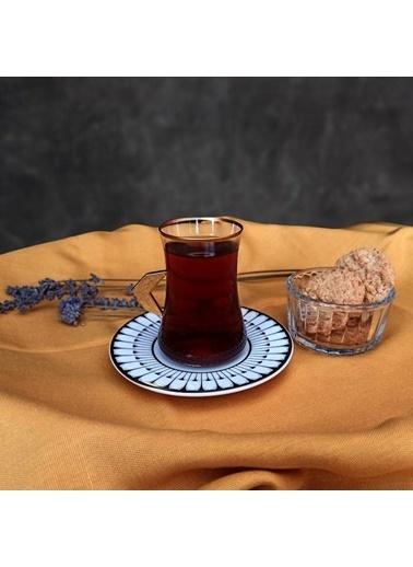 Koleksiyon Dervish Kulplu Lujo 6'lı Çay Seti Renkli